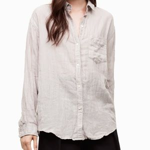 Aritzia Linen Button Down Shirt